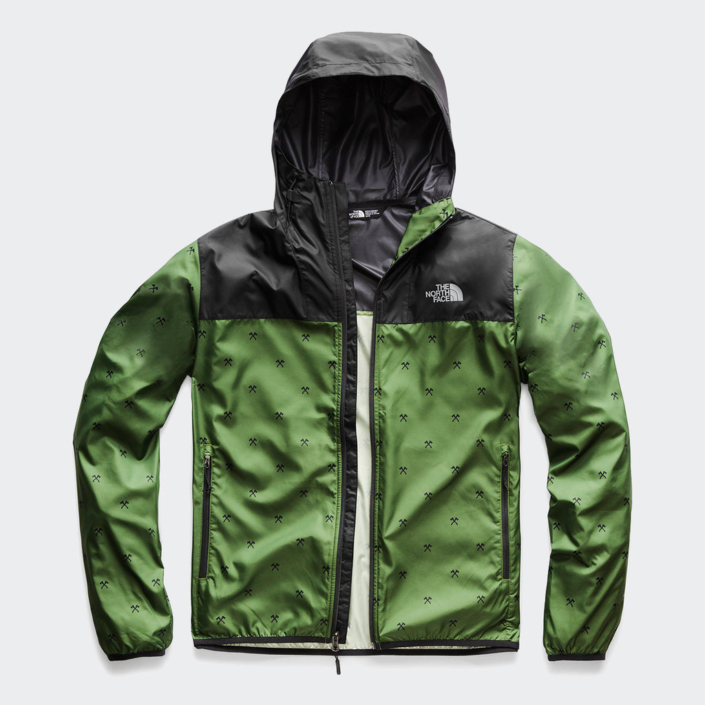 Men's The North Face Printed Cyclone Hoodie Garden Green