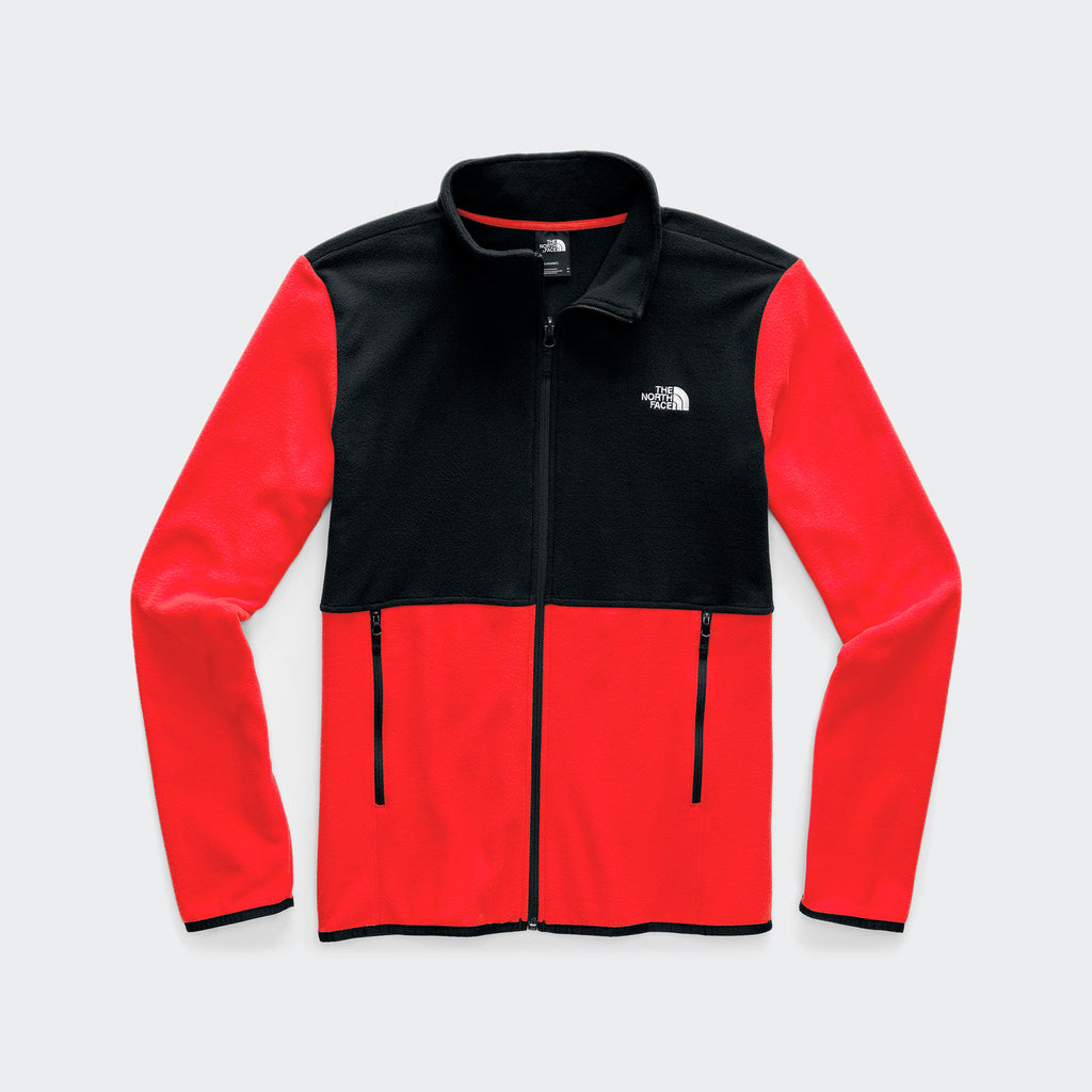 Men's The North Face TKA Glacier Full-Zip Jacket Fiery Red