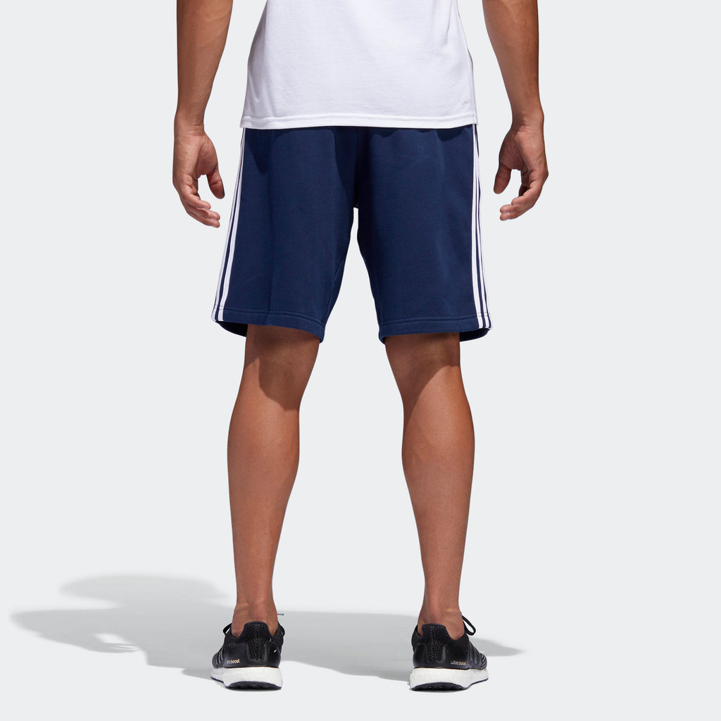 Men's adidas Essentials 3-Stripes Shorts Collegiate Navy