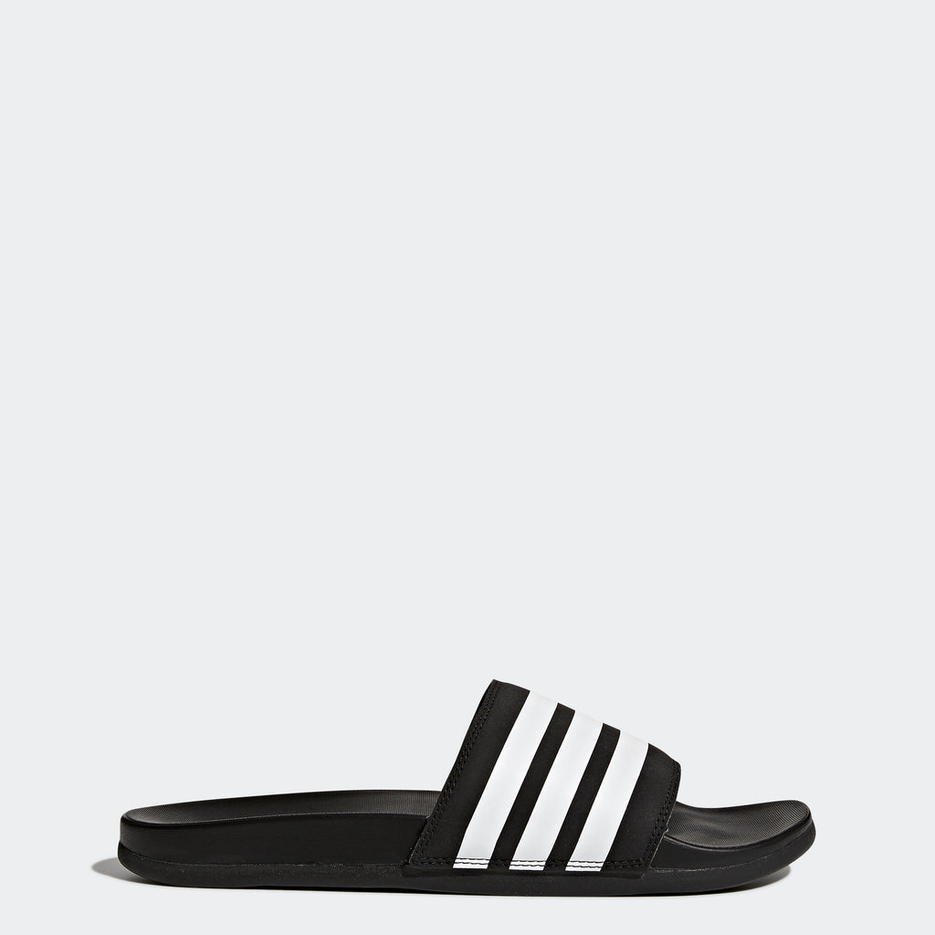 Men's adidas Essentials Adilette Cloudfoam Stripes Slides