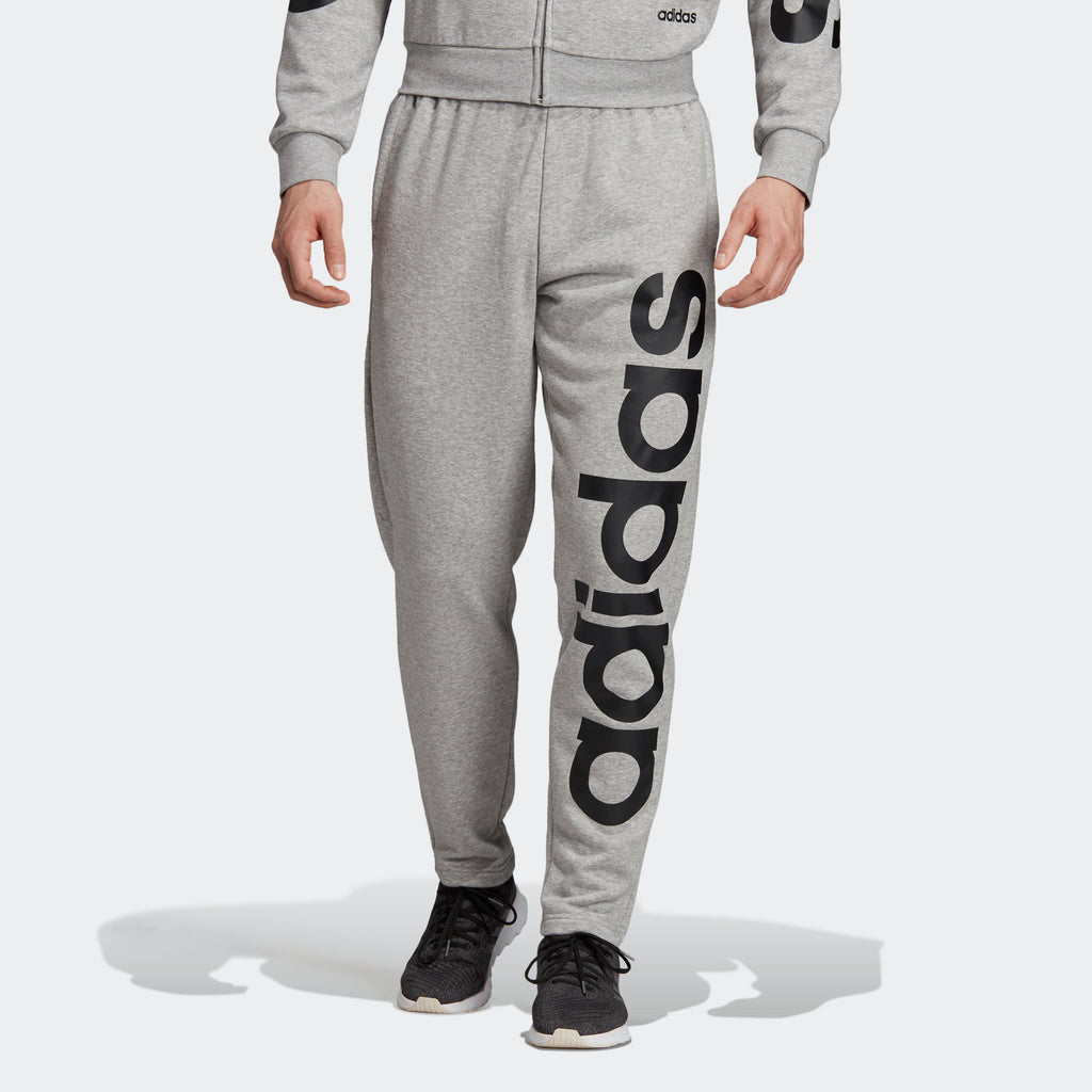 Men's adidas Essentials Logo Pants Grey