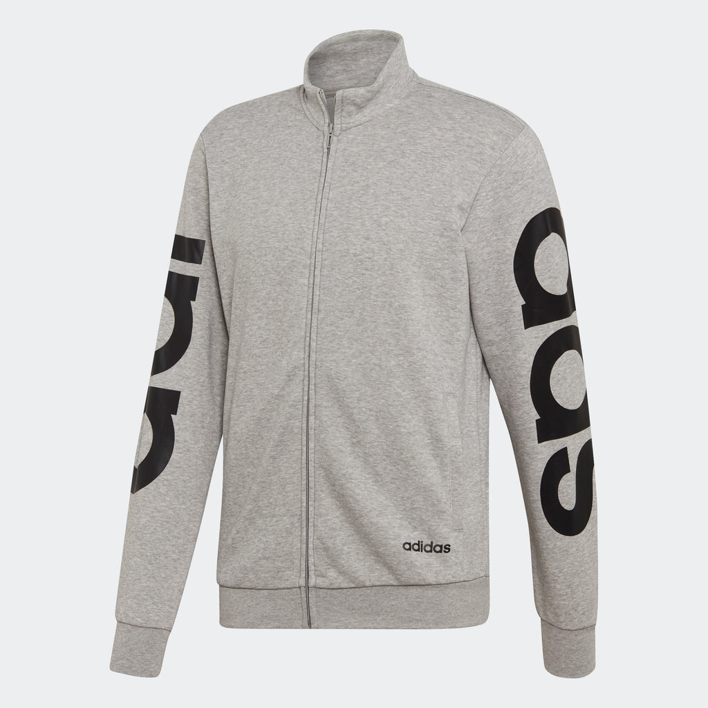 Men's adidas Essentials Logo Track Jacket Grey