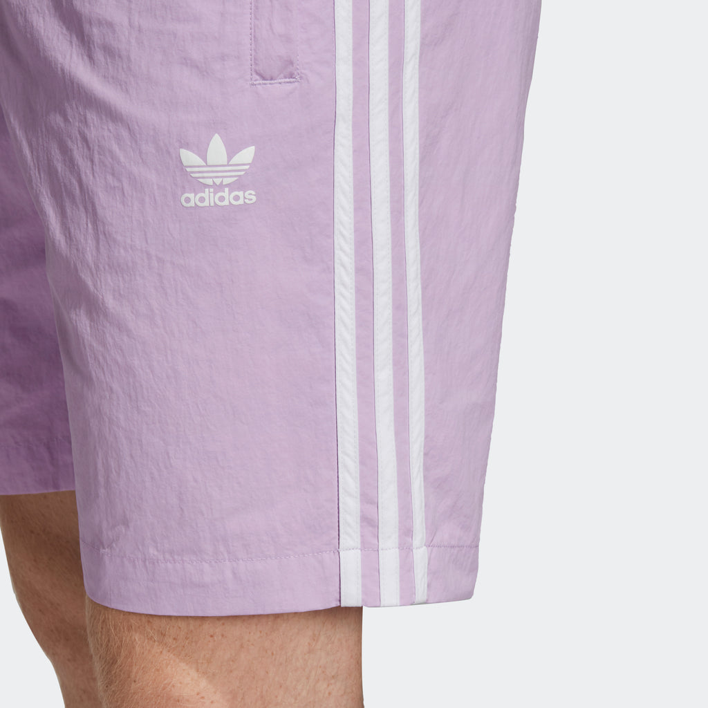 Men's adidas Originals 3-Stripes Swim Shorts Purple Glow
