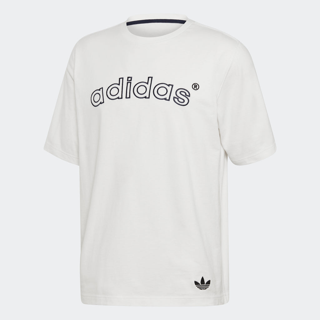 Men's adidas Originals Archive Logo Tee White