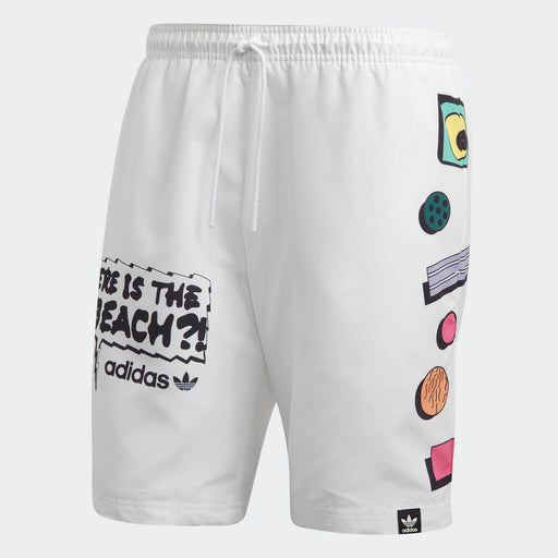 Men's adidas Originals Collective Memories Swim Shorts White