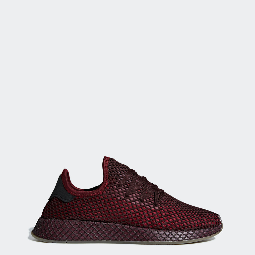 Men's adidas Originals Deerupt Runner Shoes Collegiate Burgundy