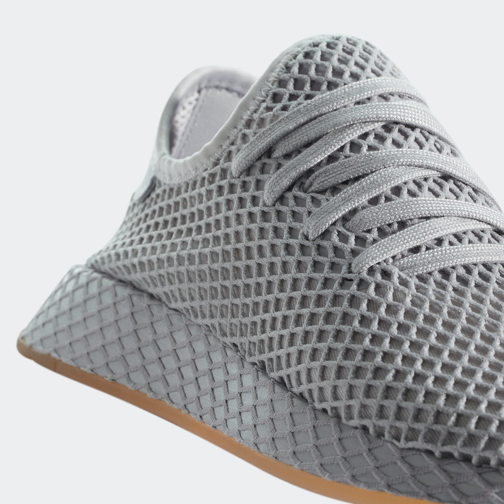 Men's adidas Originals Deerupt Runner Shoes Light Gray
