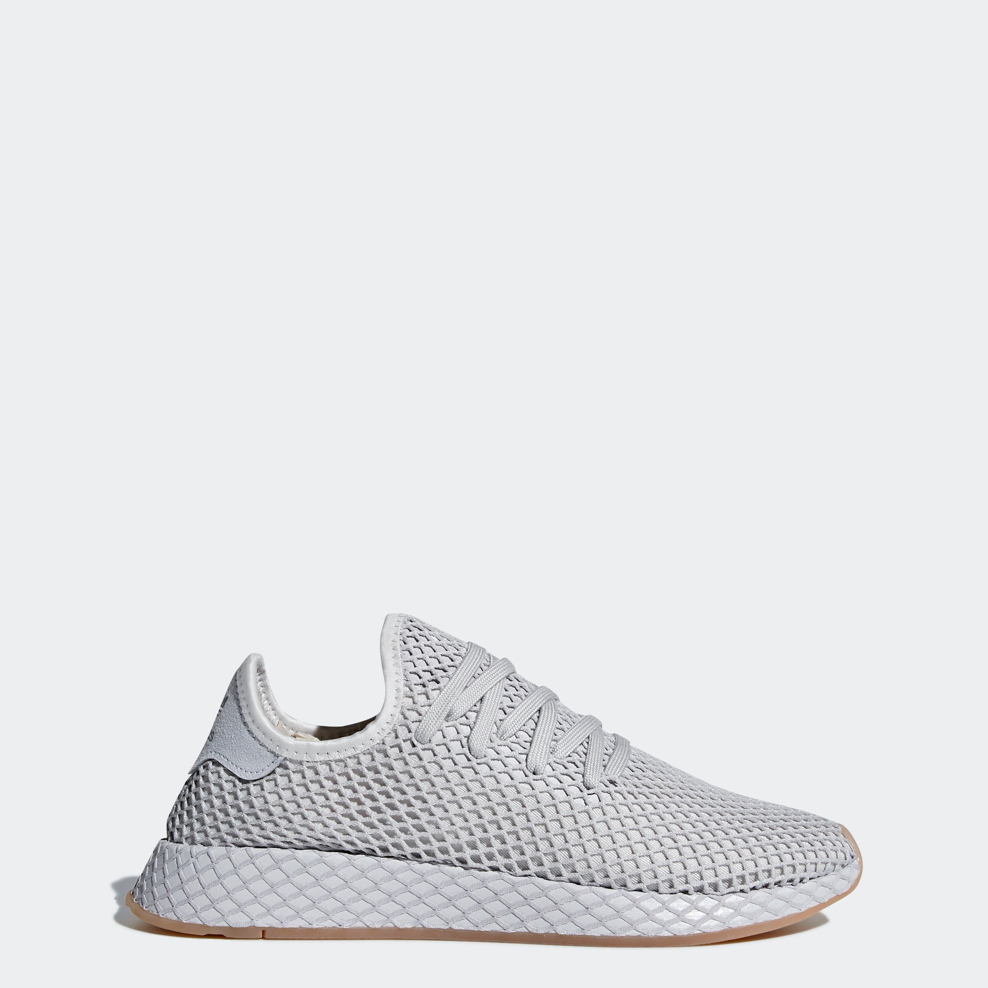 Basket Adidas Deerupt Runner gris clair Grey Three on feet