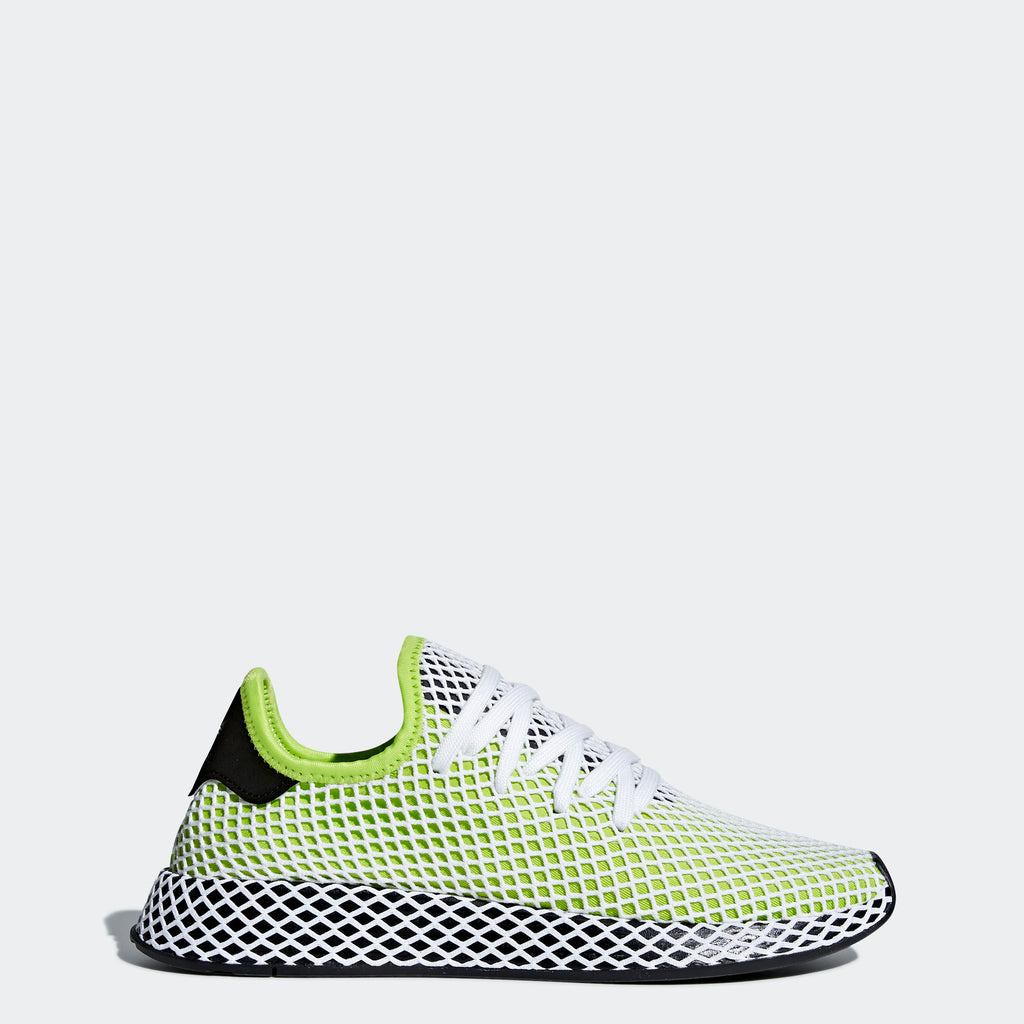 Men's adidas Originals Deerupt Runner Shoes Semi Solar Slime Green