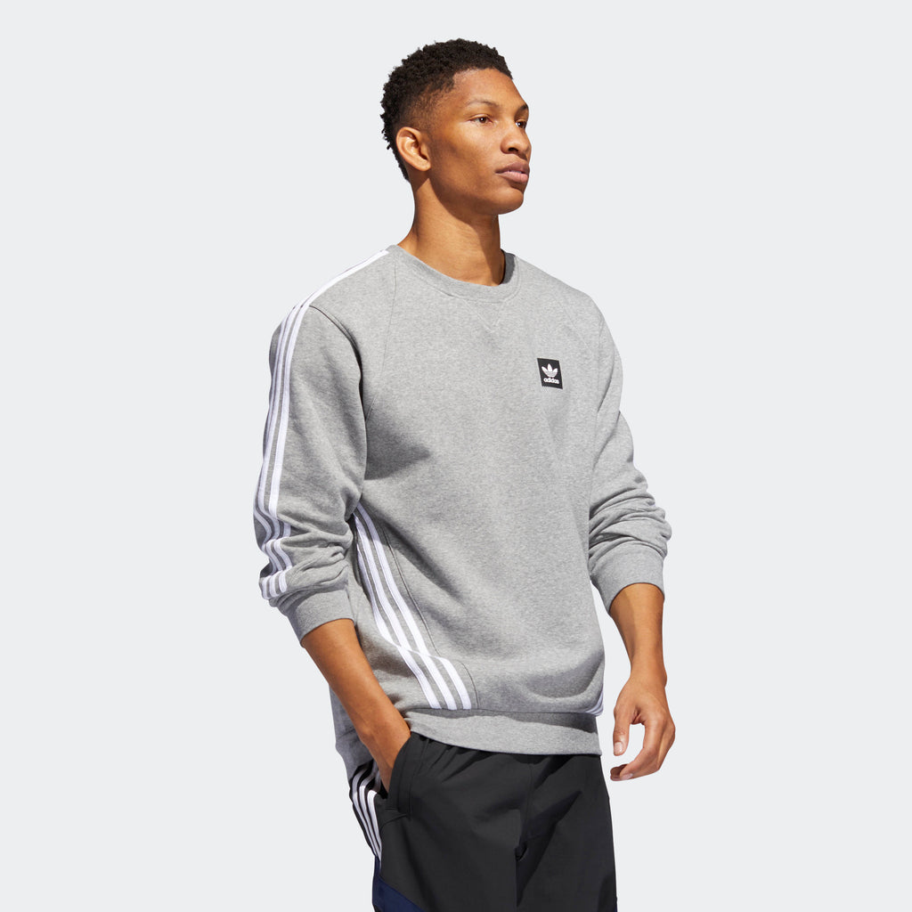 Men's adidas Originals Insley Crewneck Sweatshirt Grey
