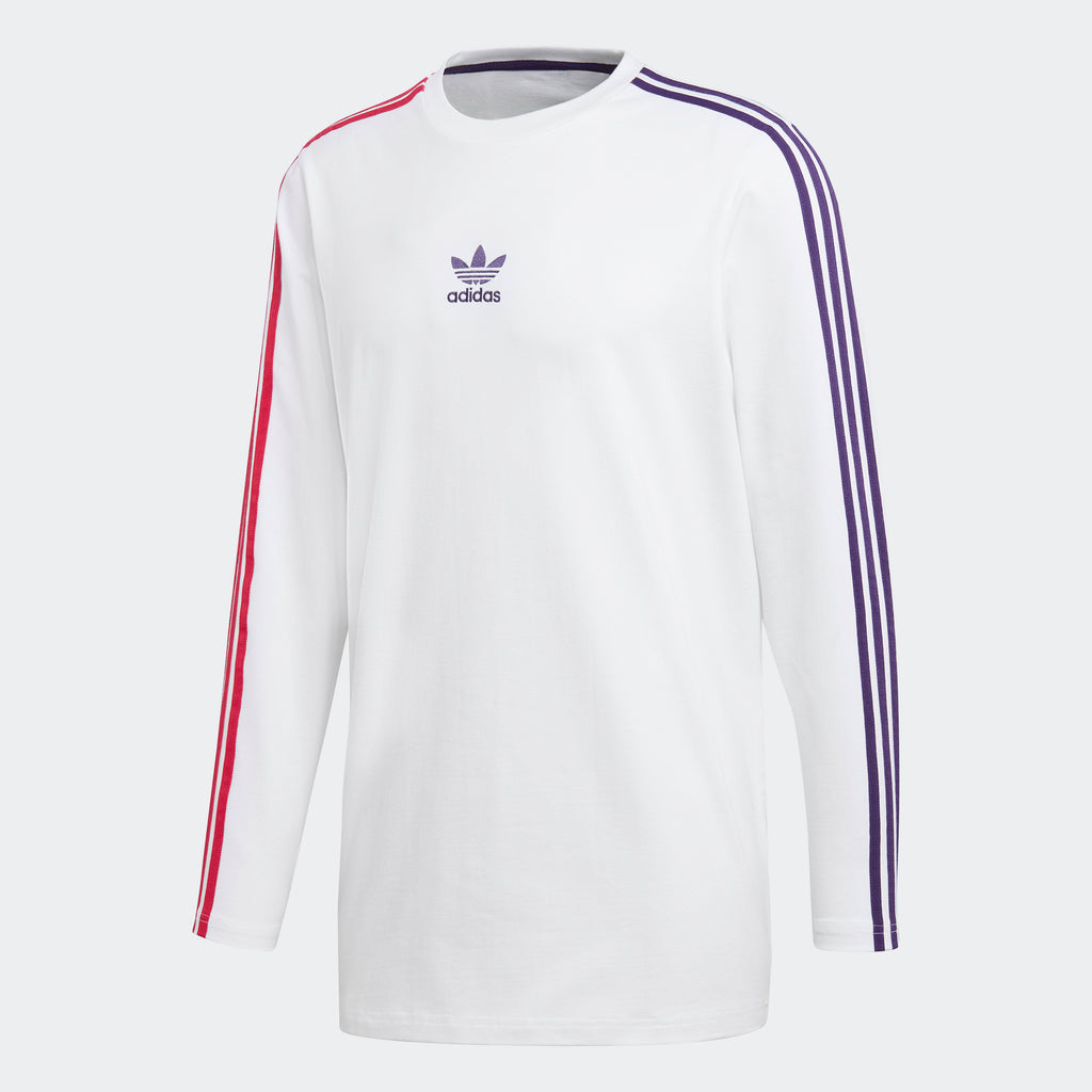 Men's adidas Originals Long Sleeve Stripe Tee White