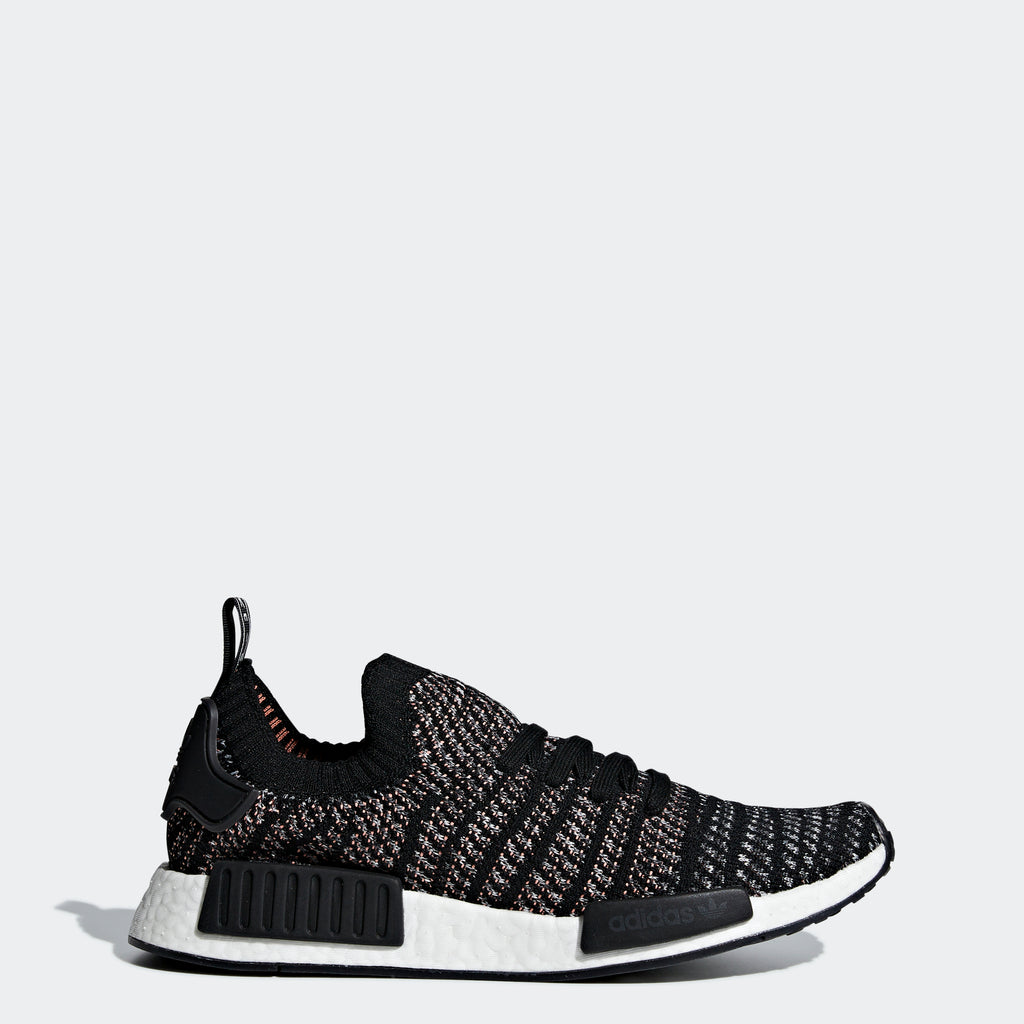 Men's adidas Originals NMD_R1 STLT Primeknit Shoes Black Grey