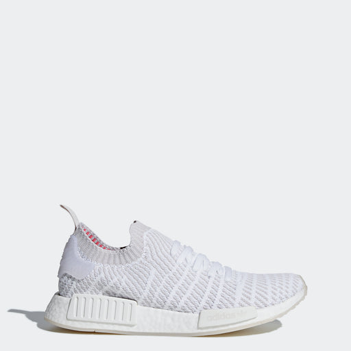 0297dfdc5 Men s adidas Originals NMD R1 STLT Primeknit Shoes Cloud White and Gray