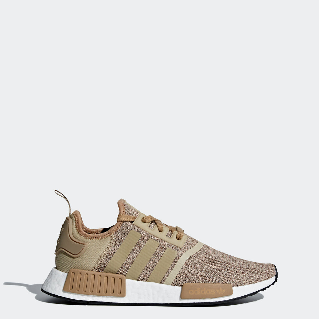 Men's adidas Originals NMD_R1 Shoes Brown and Raw Gold