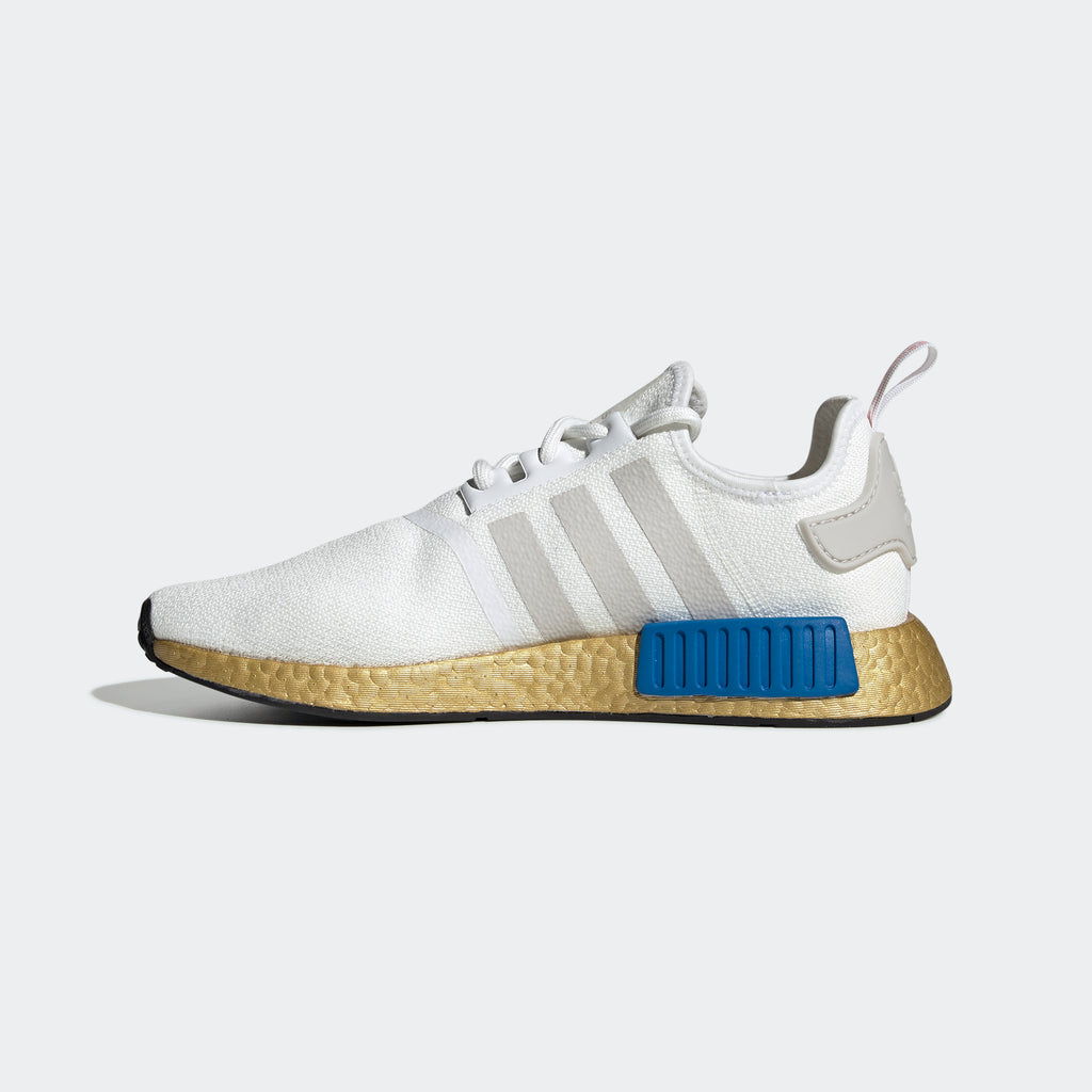 Men's adidas Originals NMD_R1 Shoes Gold RWB