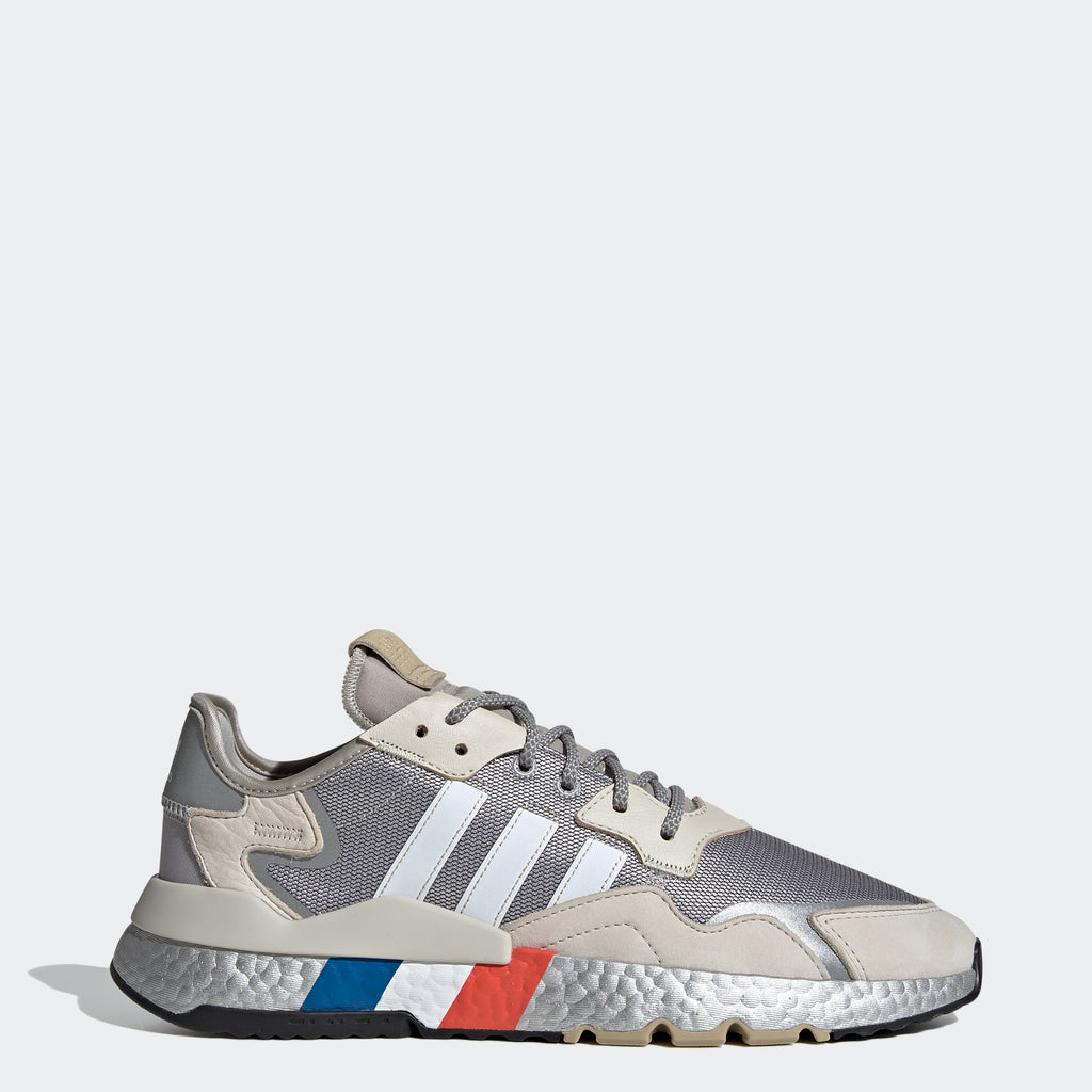Men's adidas Originals Nite Jogger Shoes Silver Metallic