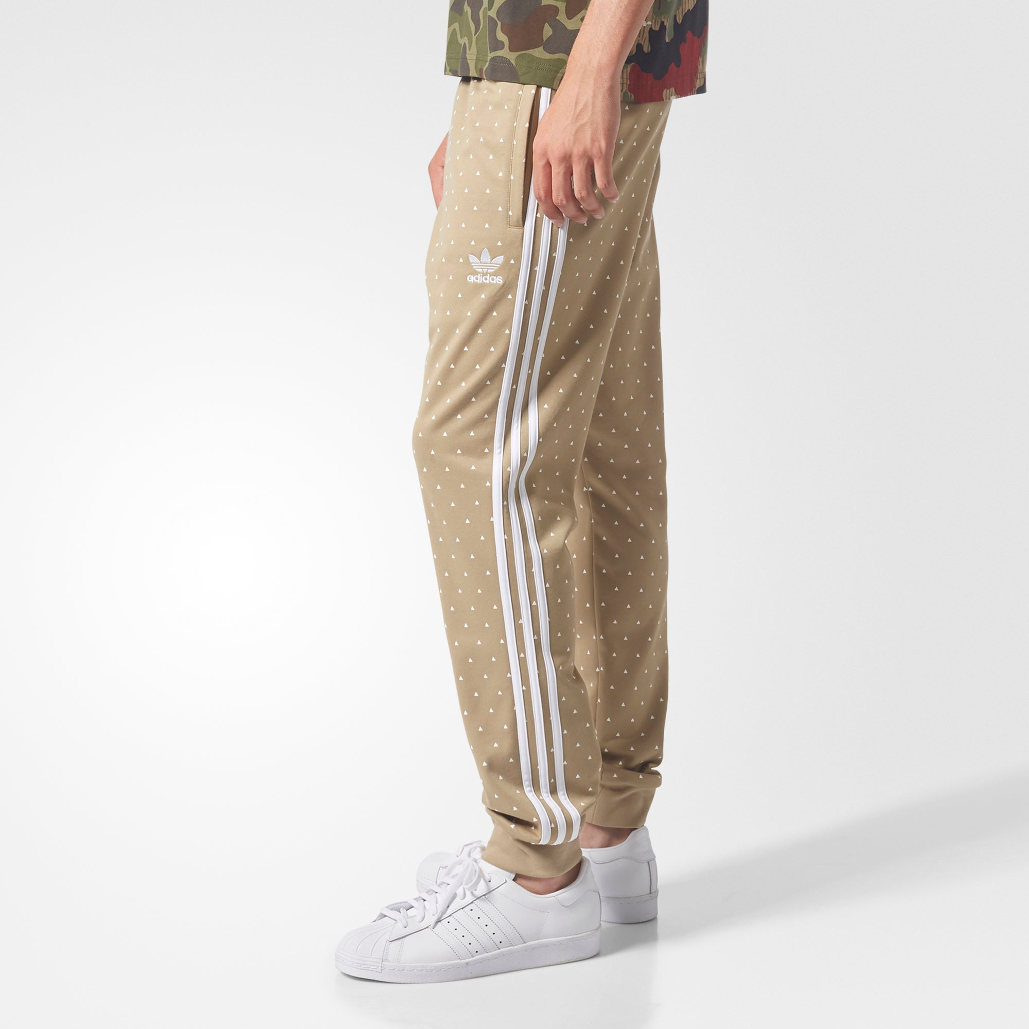 be23dba2e5c04 Men s adidas Originals Pharrell Williams Hu Hiking SST Track Pants Hemp  Beige. 1