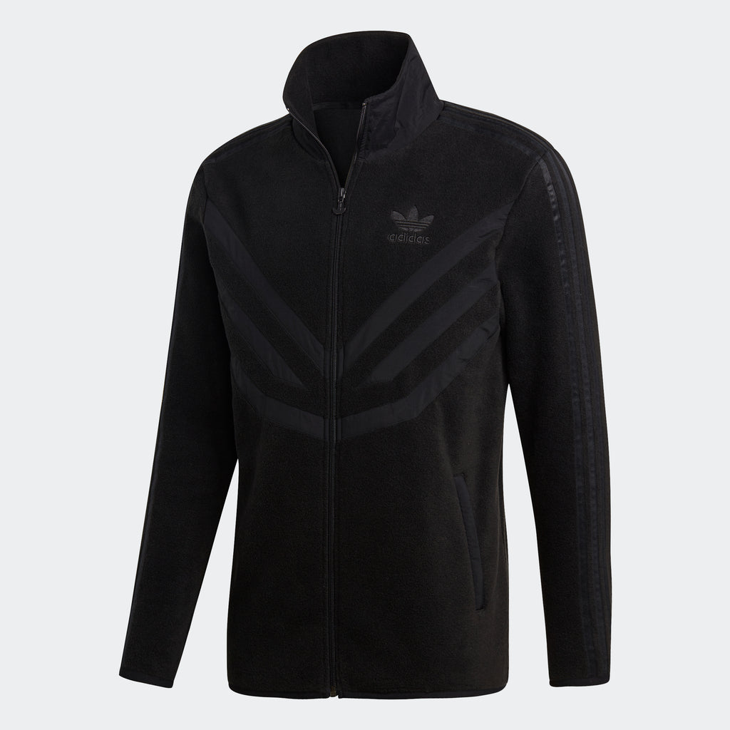 Men's adidas Originals Polar Fleece Track Top Black