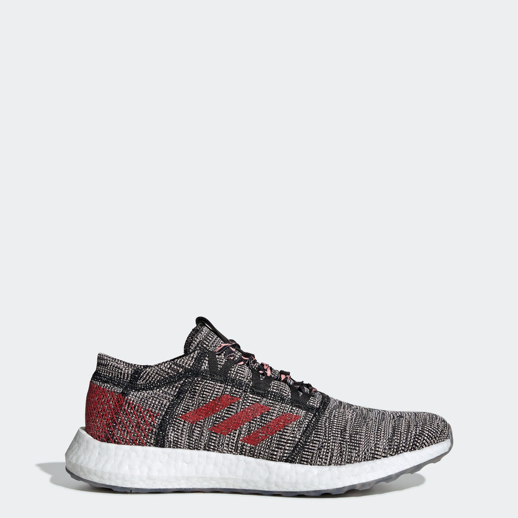 Men's adidas Originals PureBOOST Go Shoes Black Scarlet