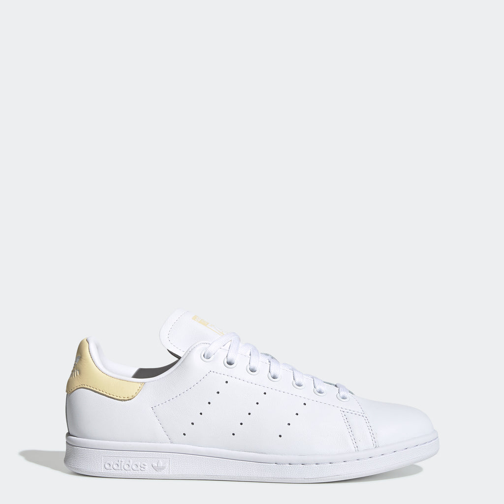 Men's adidas Originals Stan Smith Shoes White Yellow