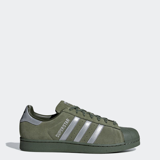 Men's adidas Originals Superstar Shoes Base Green
