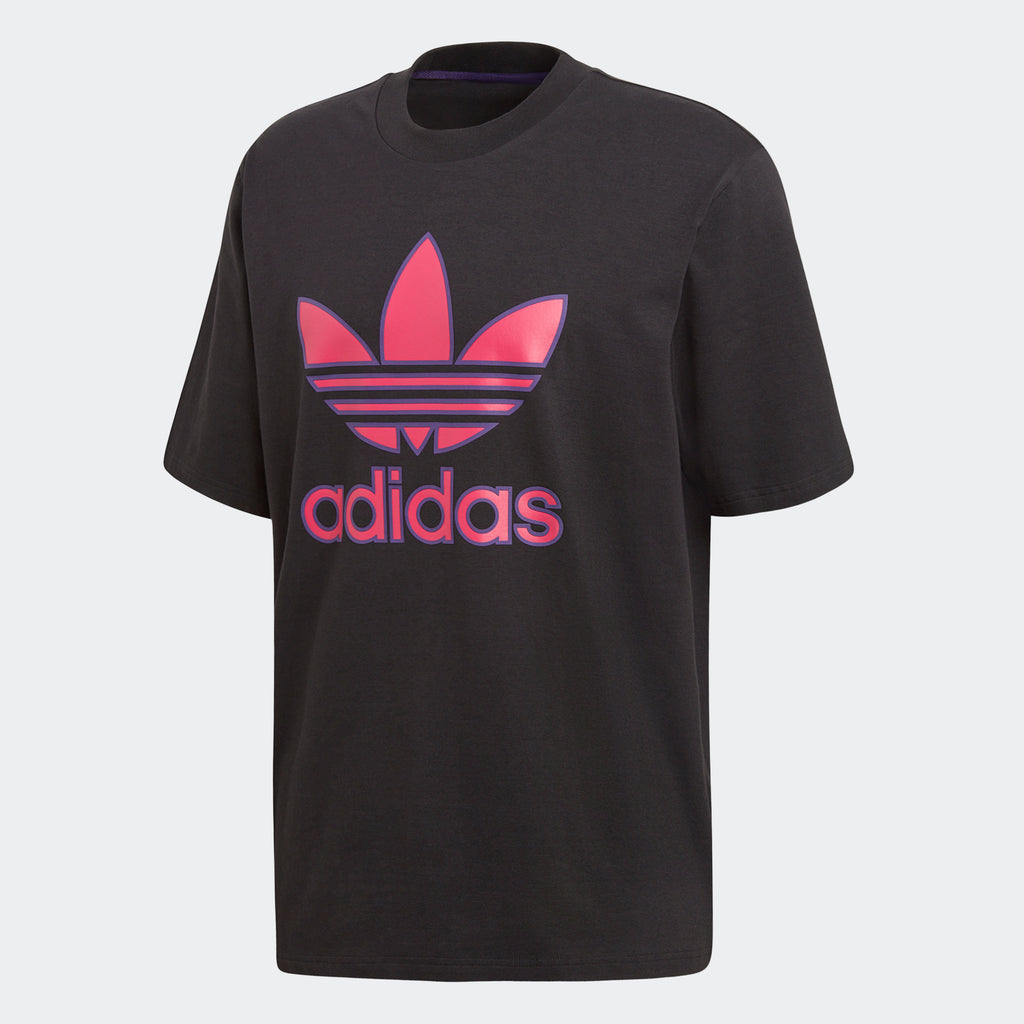 Men's adidas Originals Trefoil Tee Black Pink