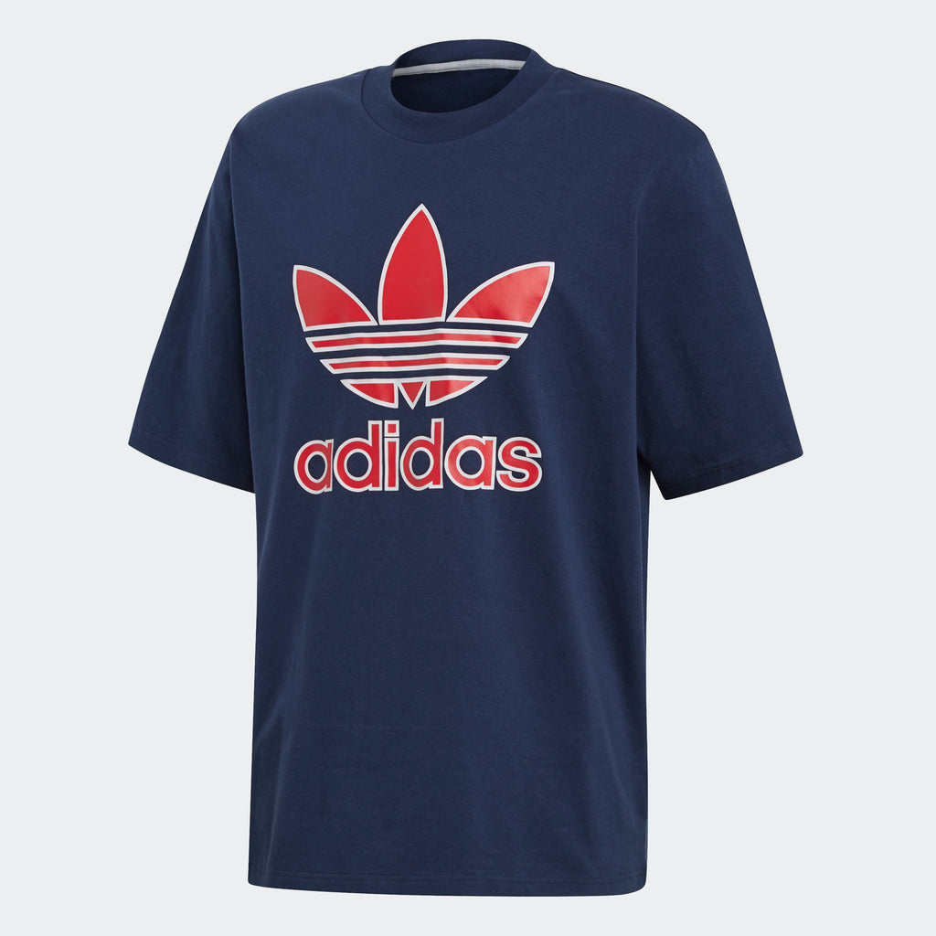 Men's adidas Originals Trefoil Tee Collegiate Navy
