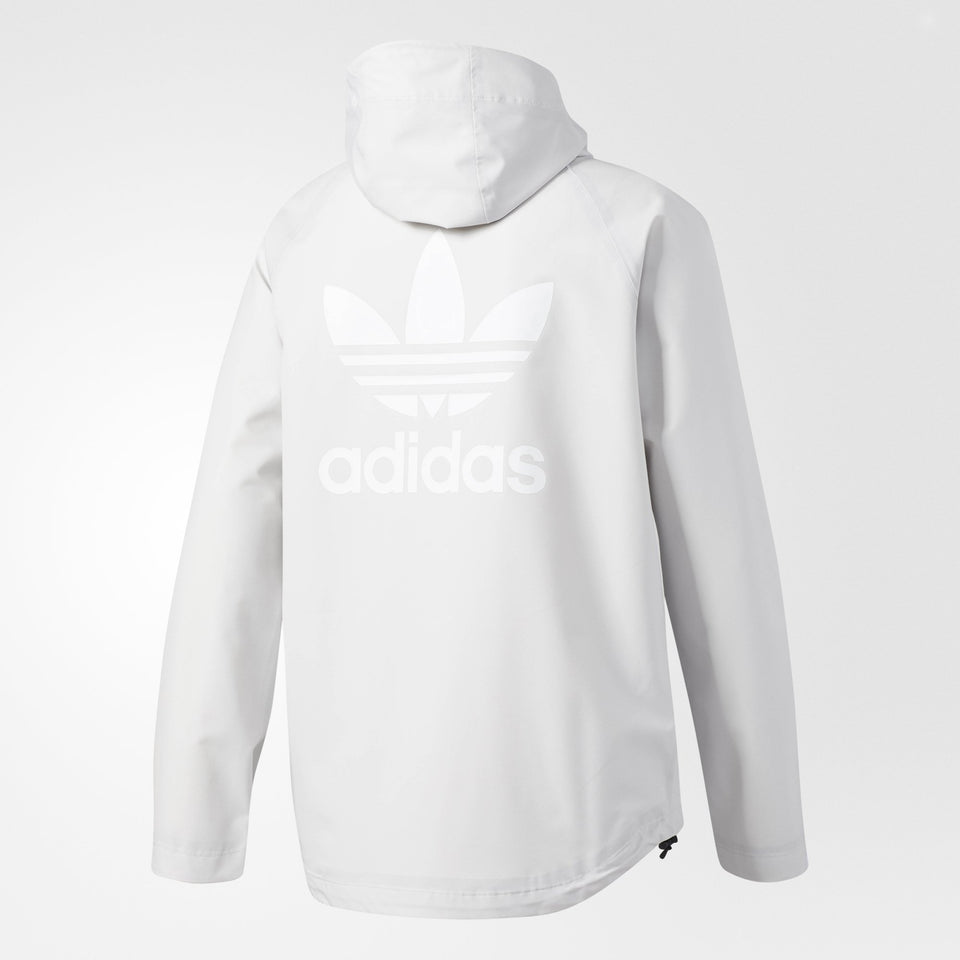 Men's adidas Originals Trefoil Hard-Shell Jacket Light Gray