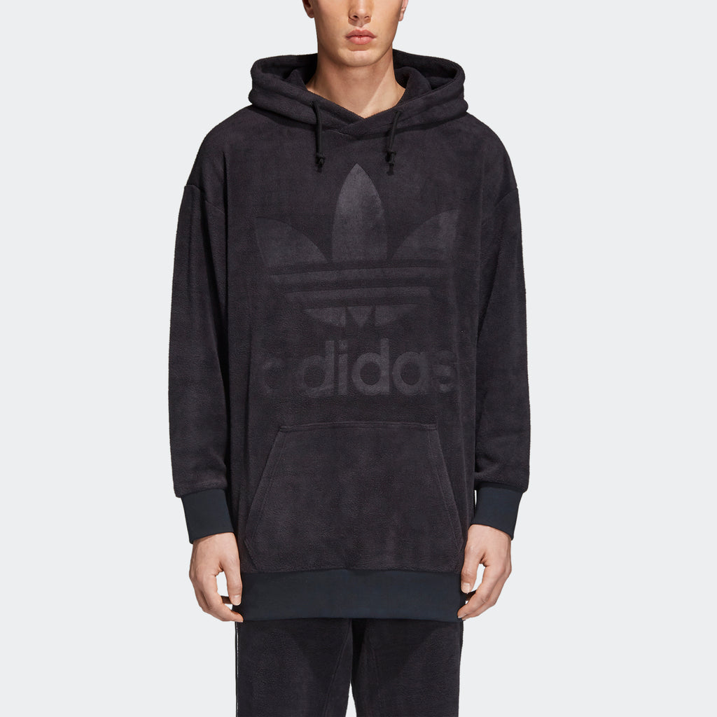 Men's adidas Originals Velour Hoodie Black