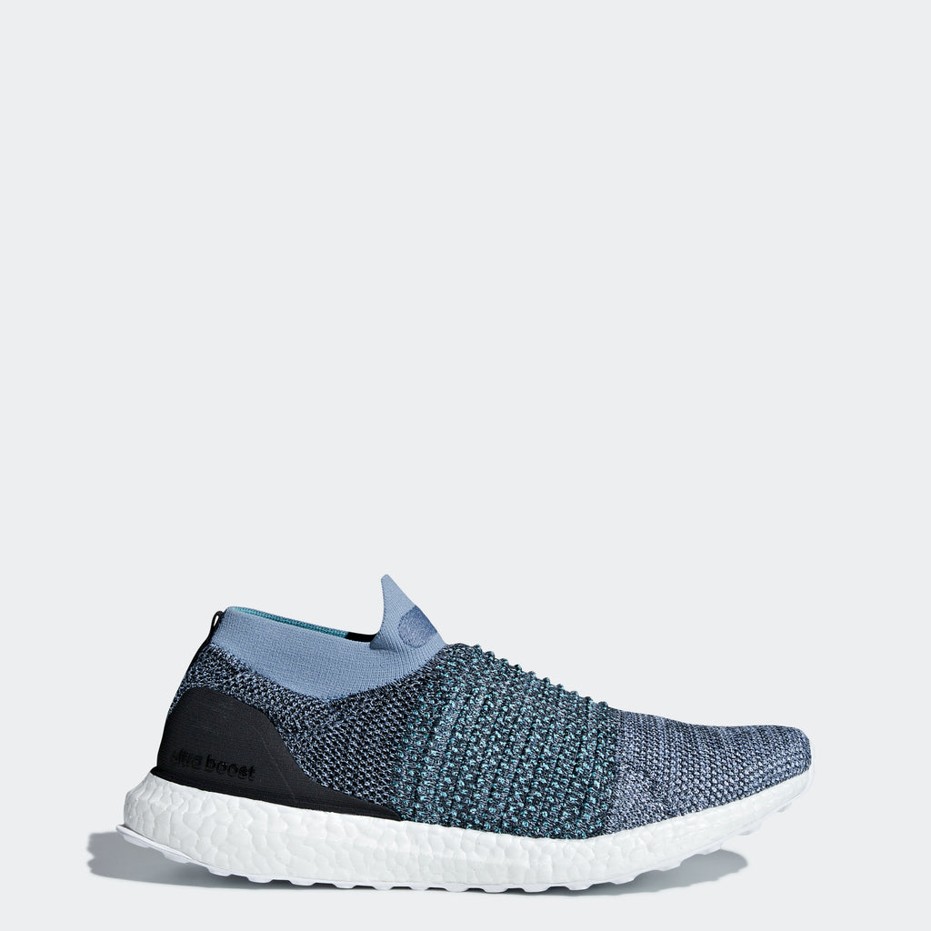 Men's adidas Running Ultraboost Laceless Parley Shoes Raw Grey Blue Spirit
