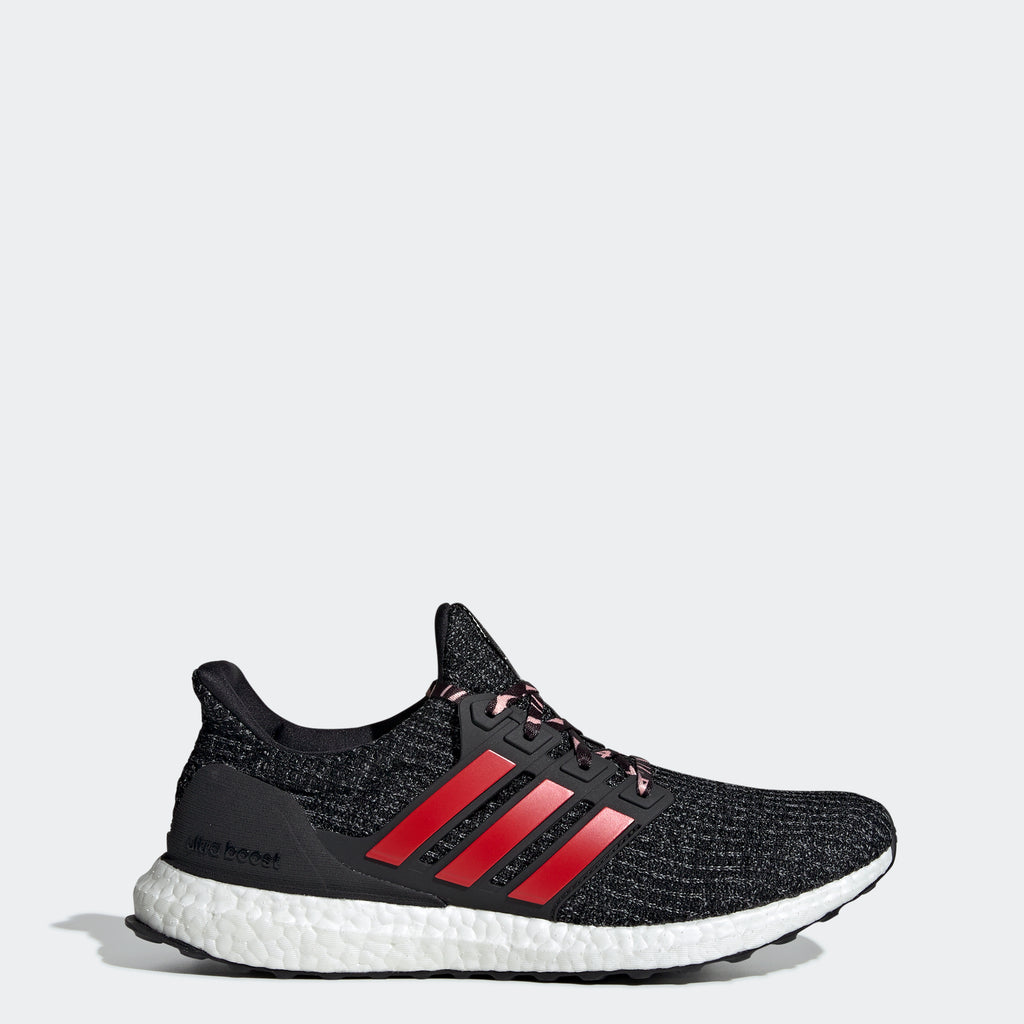 Men's adidas Running Ultraboost Shoes Black Scarlet