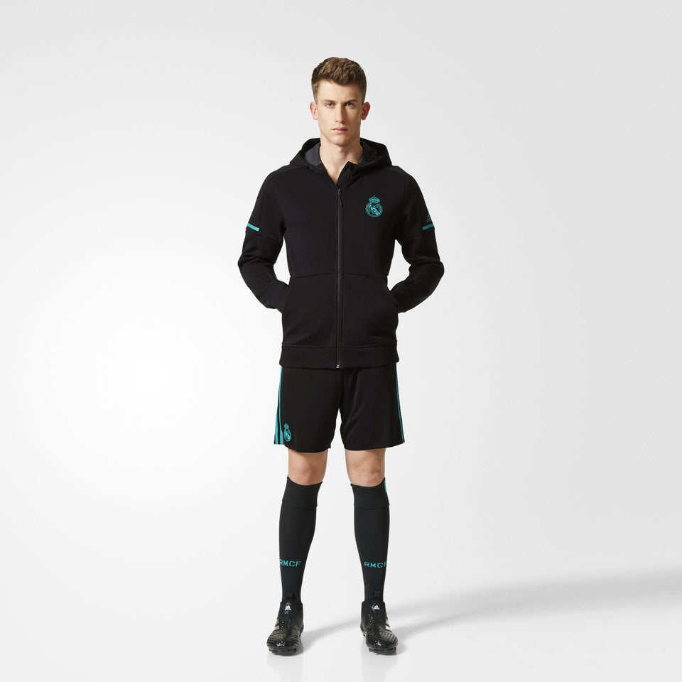 Men's adidas Soccer Real Madrid Anthem Squad Hoodie Black