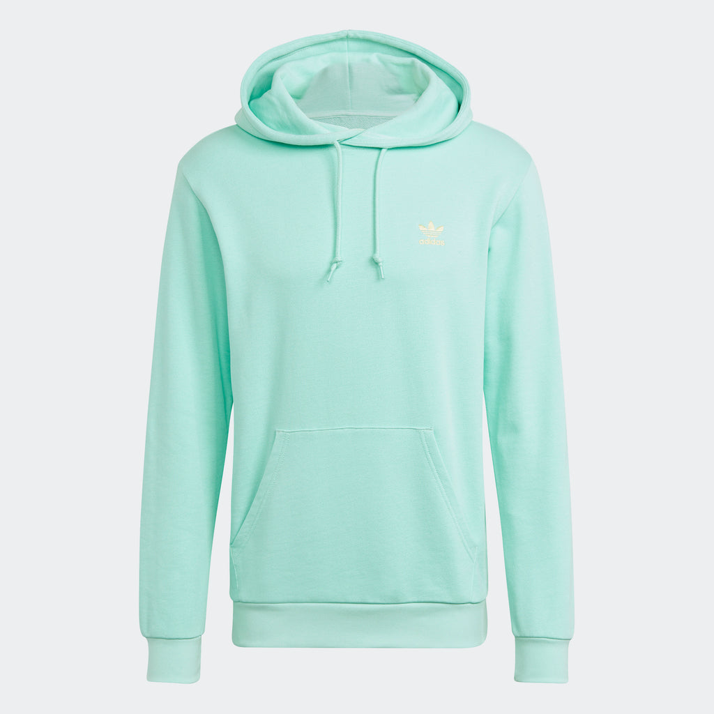 Men's adidas Essentials Loungewear Trefoil Hoodie Clear Mint (SKU GN3391) | Chicago City Sports | front view