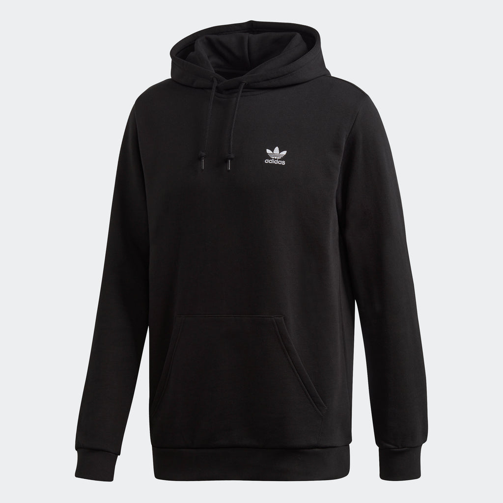 Men's adidas Essentials Trefoil Hoodie Black FM9956 | Chicago City Sports | front view