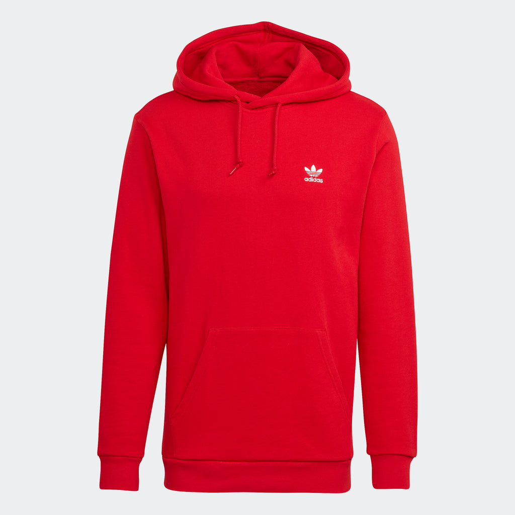 Men's adidas Trefoil Hoodie Scarlet Red GN3389 | Chicago City Sports | front view