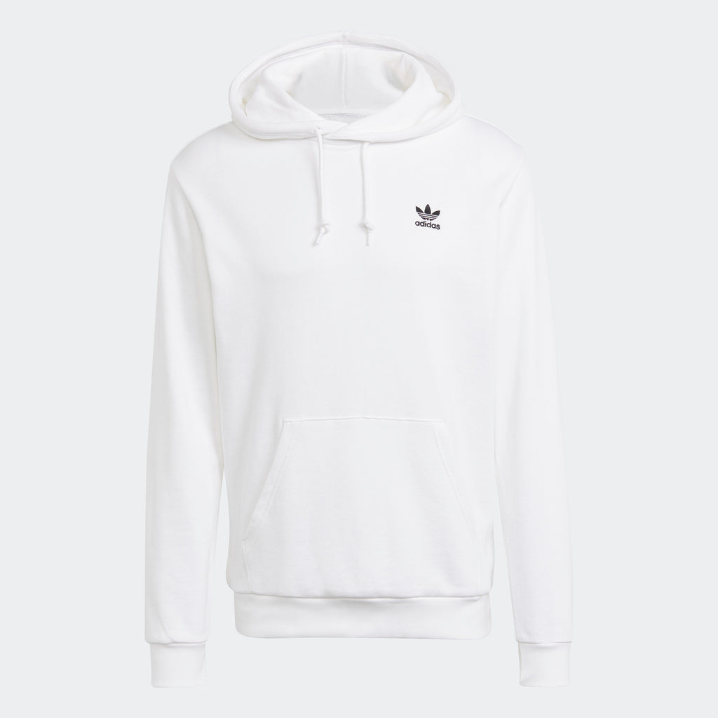 Men's adidas Essentials Trefoil Hoodie White GP0931 | Chicago City Sports | front view