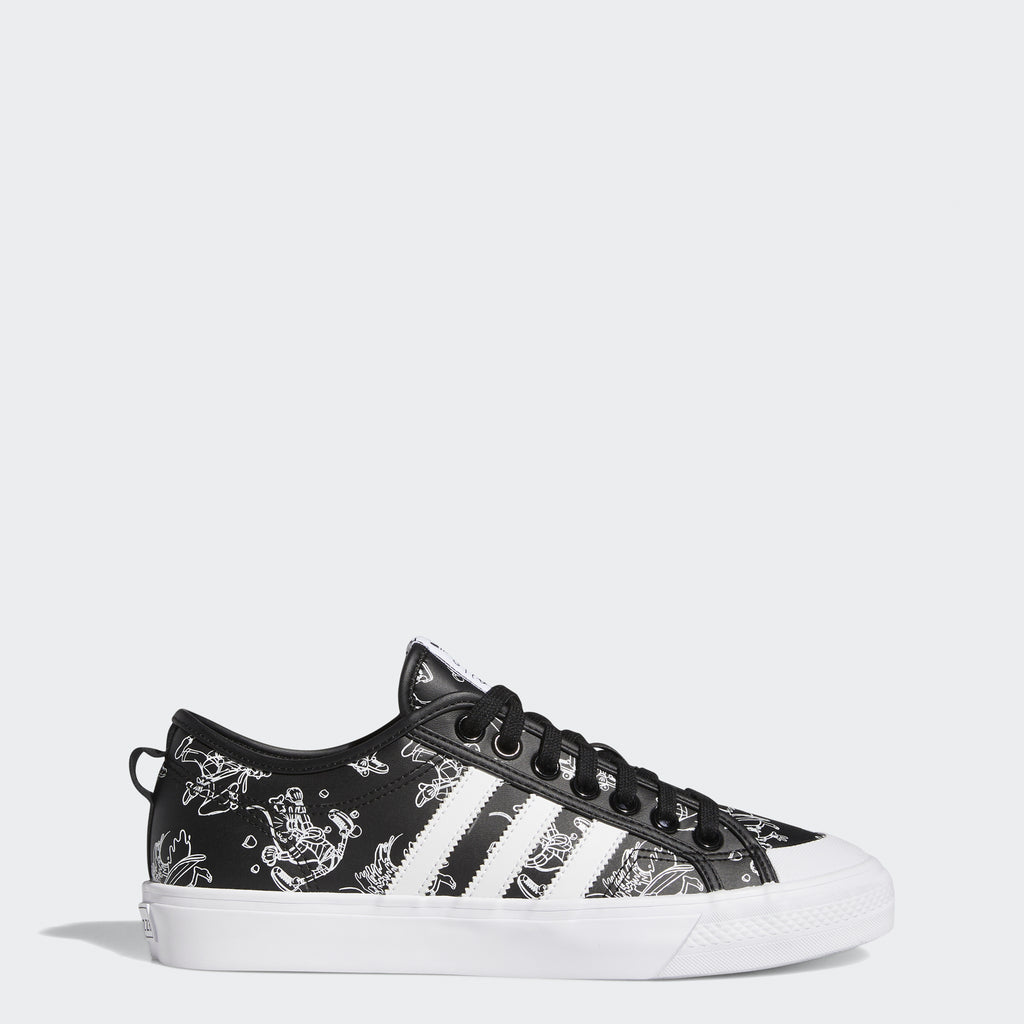 Men's adidas Nizza x Disney Sport Goofy Shoes (SKU FW9590) | Chicago City Sports | side view