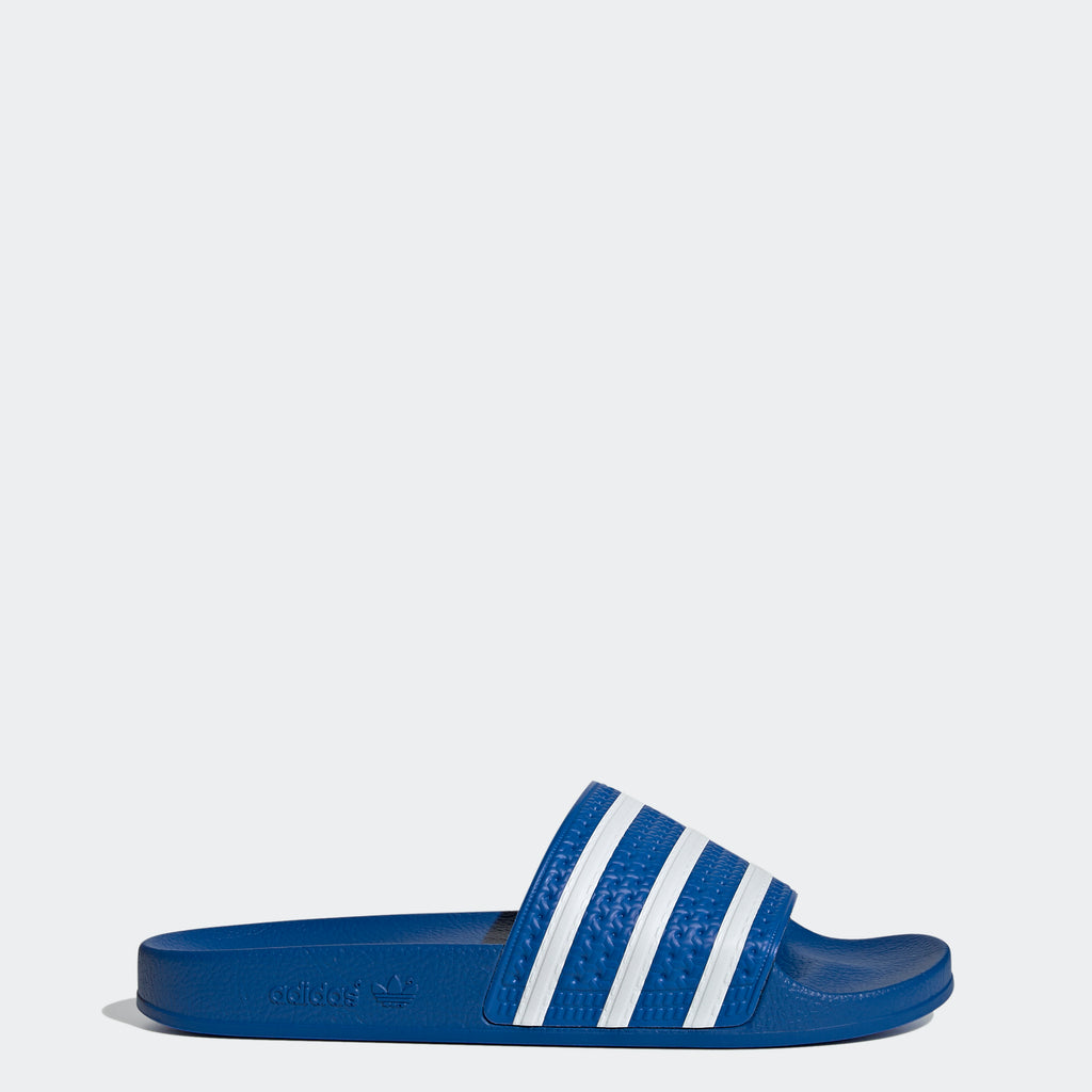 Men's adidas Adilette Slides Glow Blue FX5834 | Chicago City Sports | side view