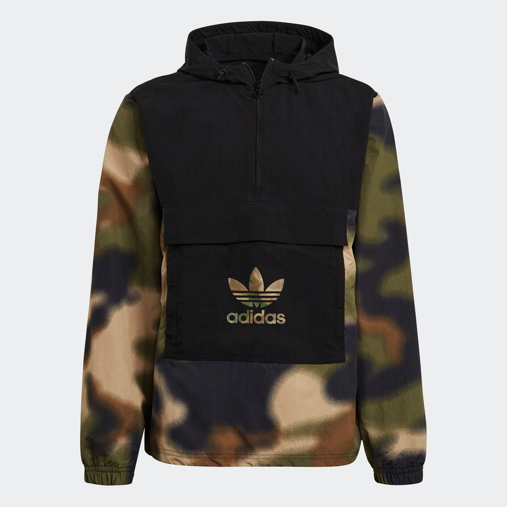 Men's adidas Originals Camo Windbreaker Hemp GN1875 | Chicago City Sports | front view