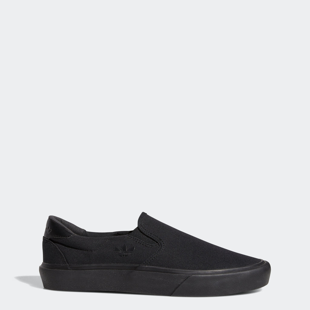 adidas Court Rallye Slip Shoes Black FY4553 | Chicago City Sports | side view