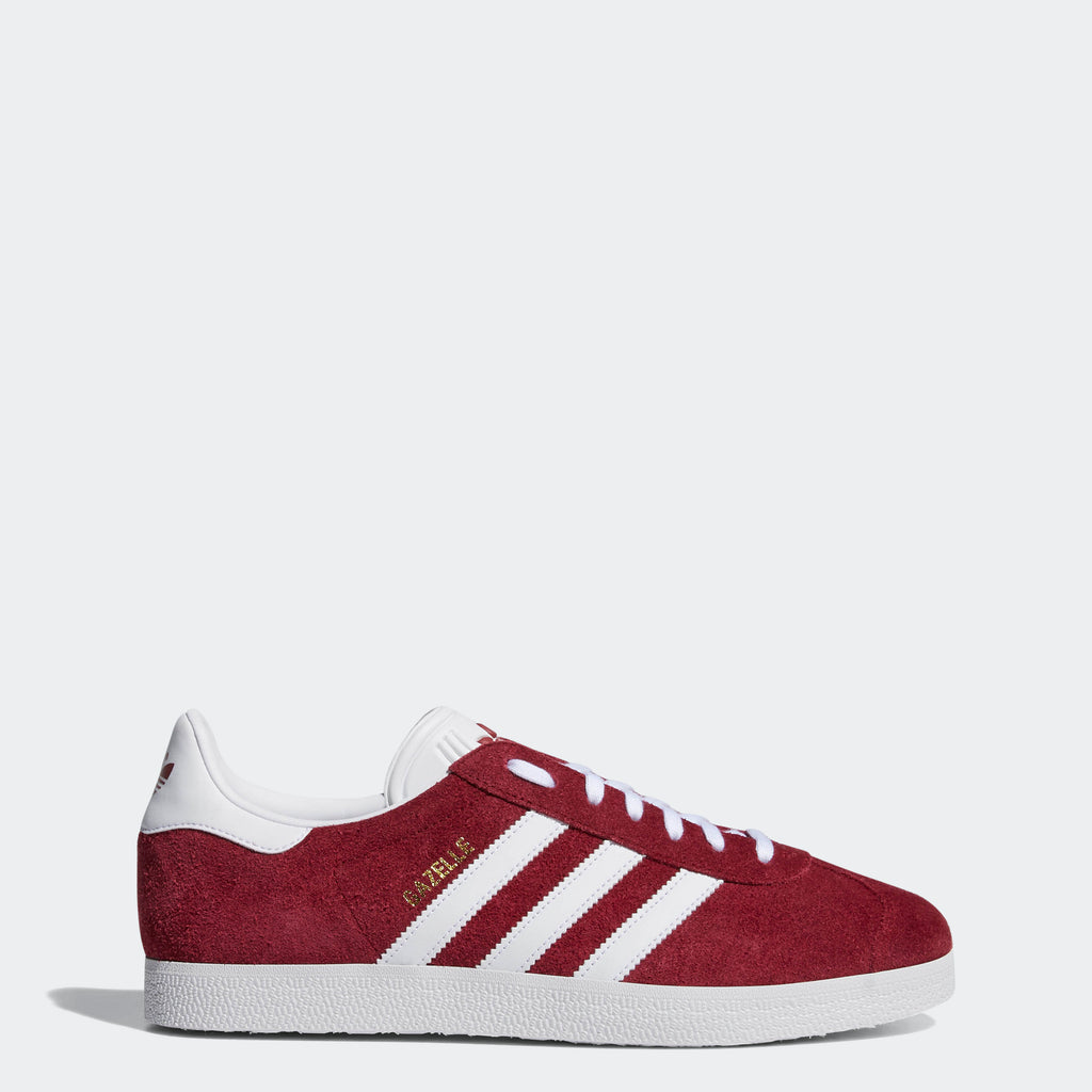 Men's adidas Gazelle Shoes Burgundy B41645 | Chicago City Sports | side view