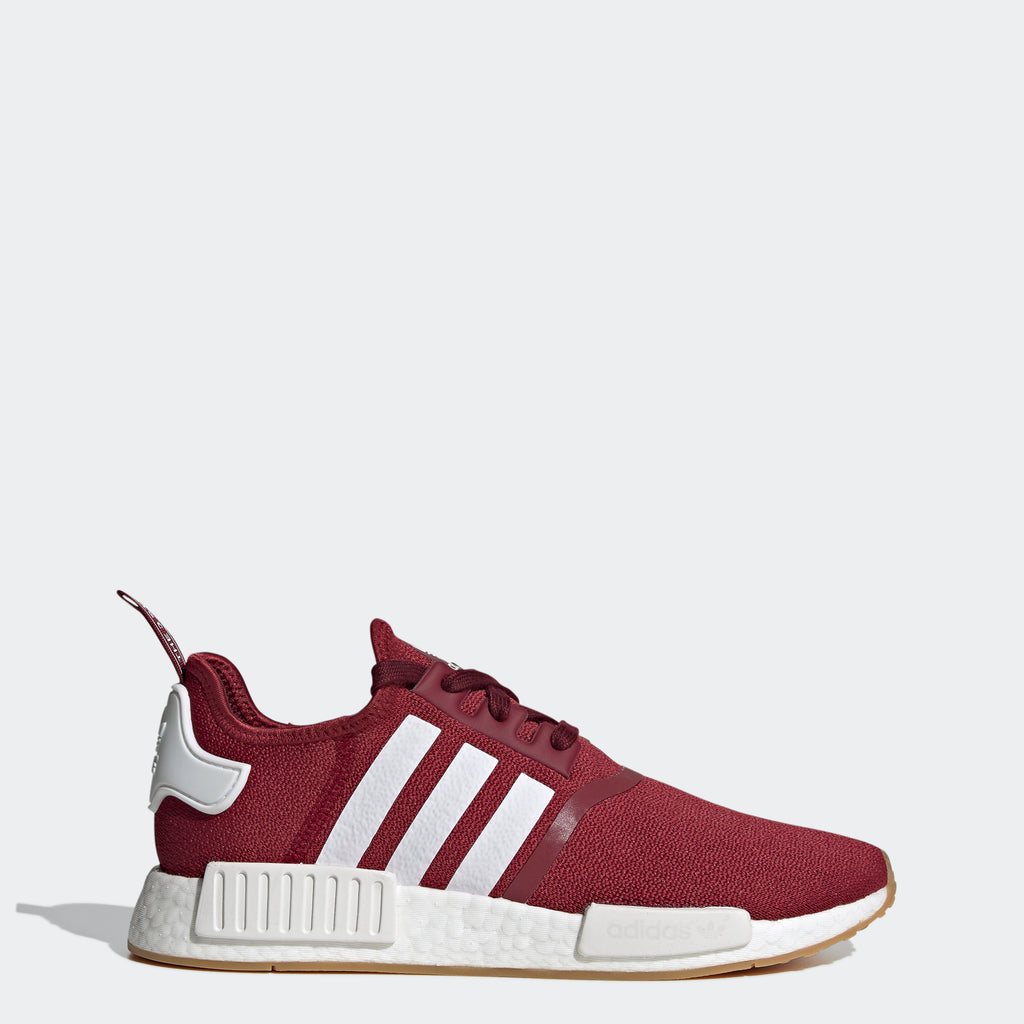 adidas Originals NMD_R1 Shoes Burgundy FX6787 | Chicago City Sports | side view