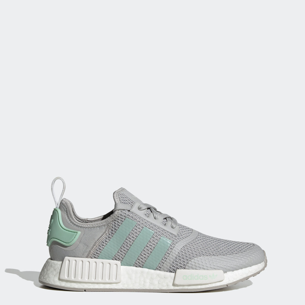 Men's adidas Originals NMD_R1 Shoes Grey Two FV9152 | Chicago City Sports | side view