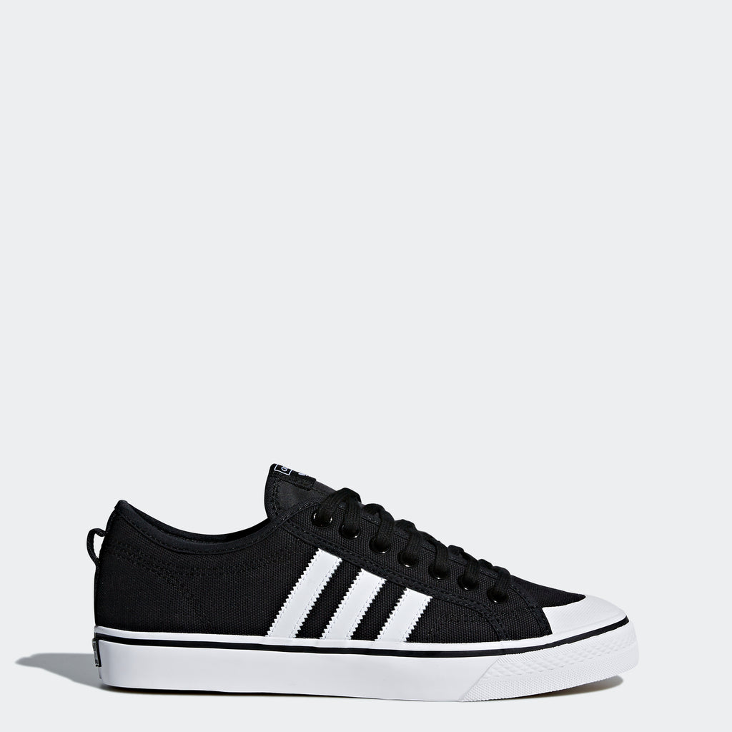 Men's adidas Nizza Shoes Black White SKU CQ2332 | Chicago City Sports | side view