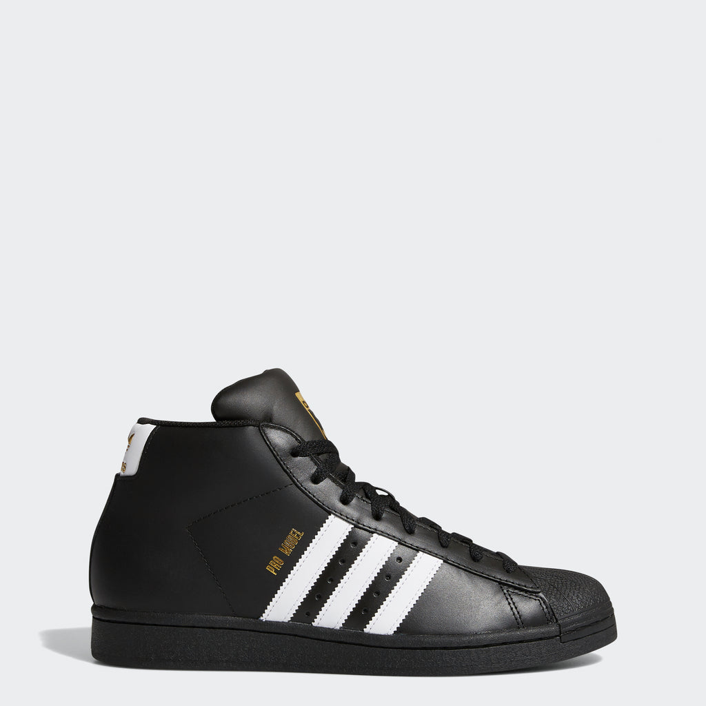Men's adidas Originals Pro Model Shoes Black White FV5723 | Chicago City Sports | side view