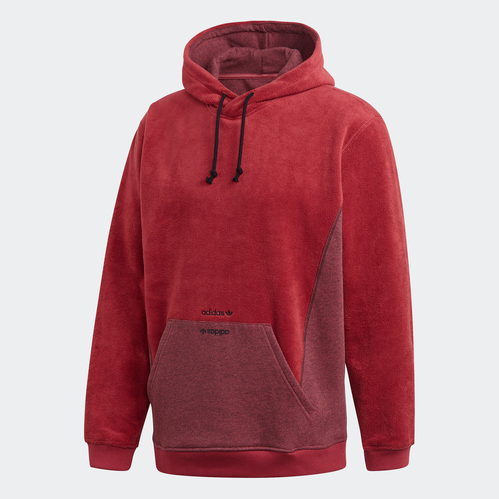 Men's adidas R.Y.V. Hoodie Legacy Red GD9321 | Chicago City Sports | front view