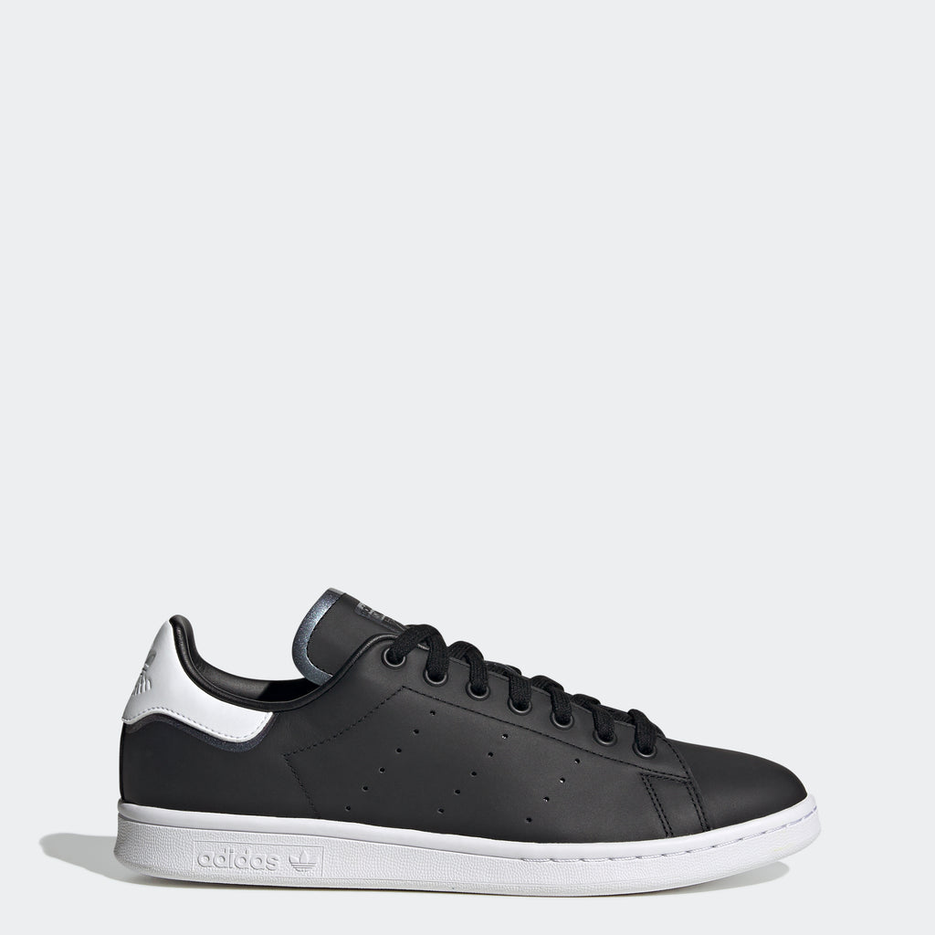 Men's adidas Originals Stan Smith Shoes Black Iridescent