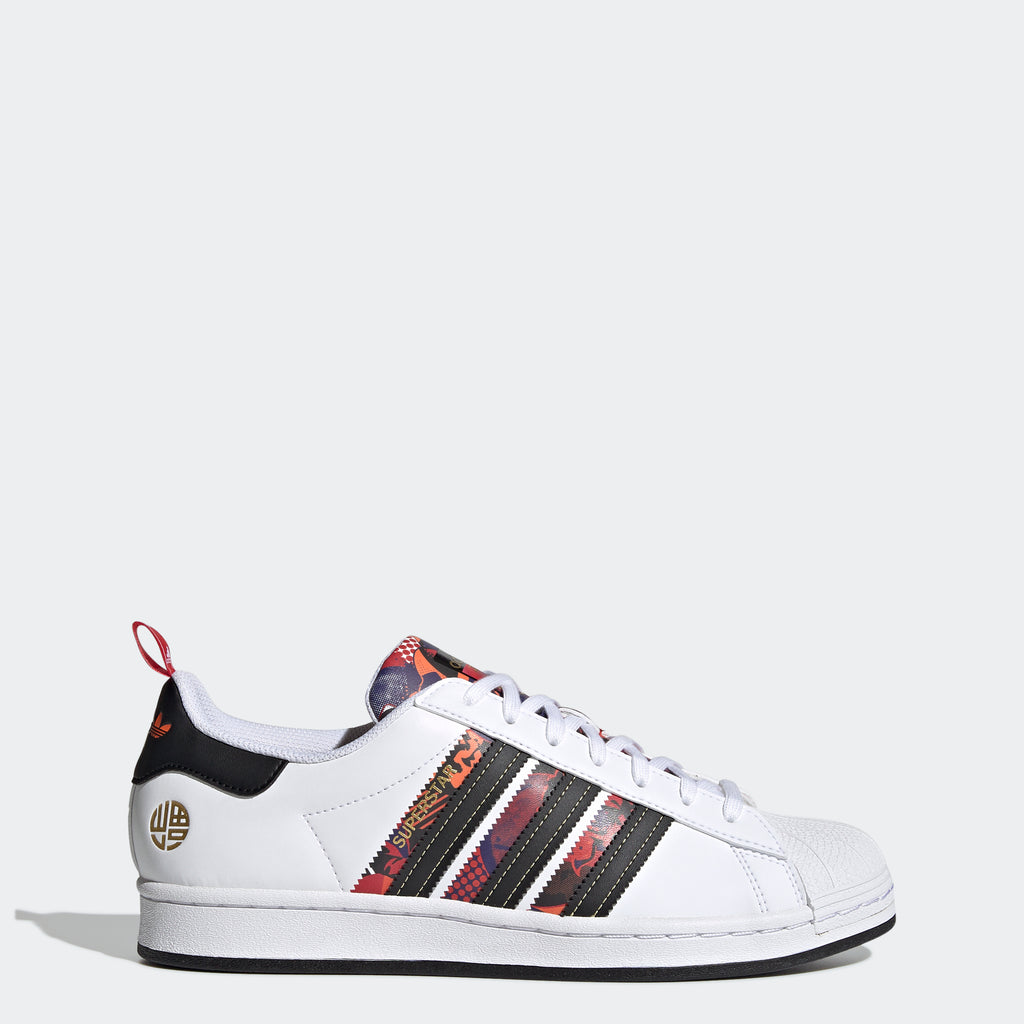 Men's adidas Originals Superstar Shoes Lunar New Year Q47184 | Chicago City Sports | side view