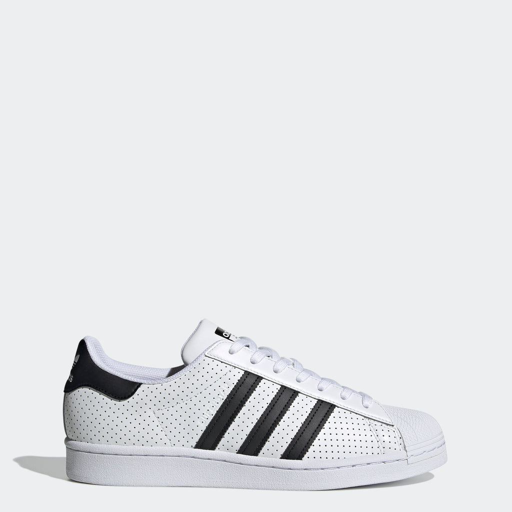 Men's adidas Originals Superstar Shoes Perforated White (SKU FV2830) | Chicago City Sports | side view