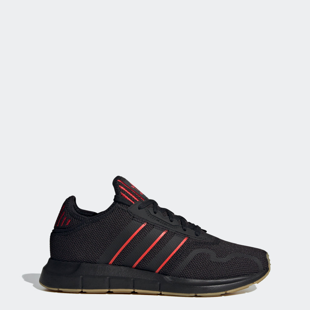 Men's adidas Swift Run X Shoes Black Scarlet FY6234 | Chicago City Sports | side view